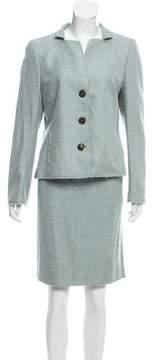 Akris Cashmere Knee-Length Skirt Suit