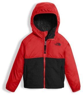 The North Face Sherparazo Taffeta & Fleece Hooded Jacket, Red, Size 2-4T