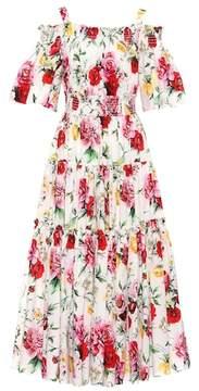 Dolce & Gabbana Off-the-shoulder cotton dress