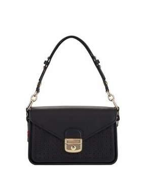 Longchamp Mademoiselle Perforated Leather Crossbody Bag