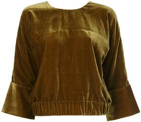 ESTNATION textured back-zip jacket