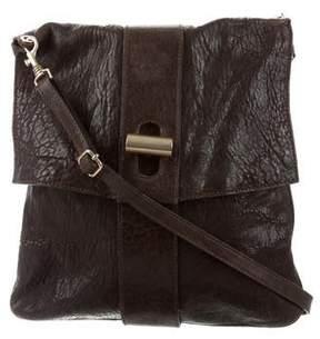 Elena Ghisellini Pebbled Leather Messenger Bag
