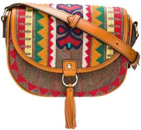 Etro embroidered foldover bag