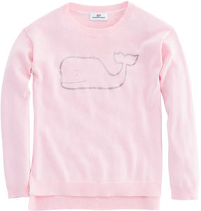 Vineyard Vines Girls Foil Whale Crewneck Sweater