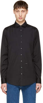 DSQUARED2 Black Poplin Carpenter Shirt