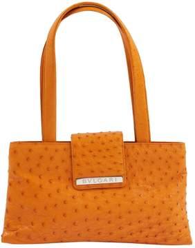 Bulgari Orange Ostrich Handbag