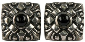 Scott Kay Scot Kay 925 Sterling Silver Onyx Square Ornate Cufflinks