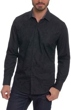 Robert Graham Men's Onyx Classic Fit Embroidered Sport Shirt