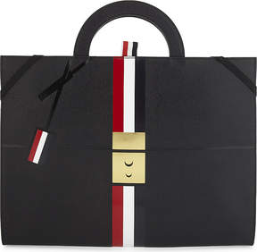 Thom Browne Briefcase trompe l'oeil leather tote