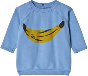 Bobo Choses Heritage Blue Banana Long Sleeve Sweatshirt