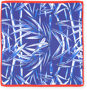 Bugatchi Bamboo-Print Silk Pocket Square
