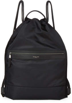 Michael Kors Black Kent Flat Drawstring Backpack