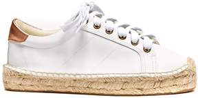 Sole Society Leather Platform Tennis Sneaker Espadrille Sneaker
