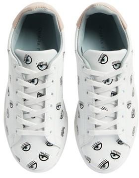 Chiara Ferragni Women's Logo Roger Eyelash Sneaker