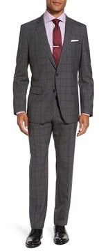 BOSS Men's Huge/genius Trim Fit Check Suit
