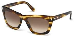 Tom Ford FT0361 Celina Square Sunglasses, 55mm