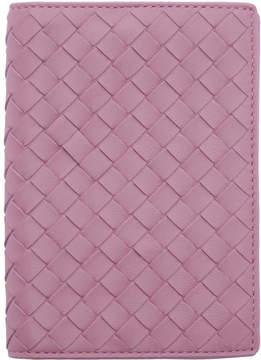 Bottega Veneta Purple Intrecciato Passport Holder