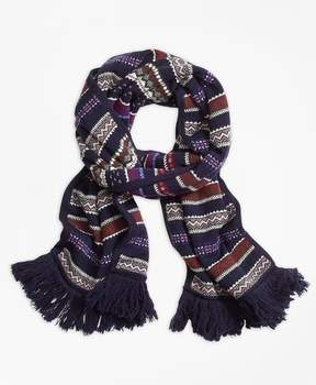 Brooks Brothers Fair Isle Lambswool Scarf