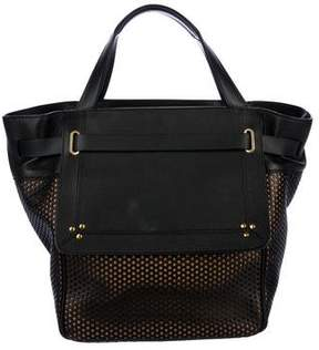 Jerome Dreyfuss Vladimir Perforated Leather Tote