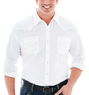 JCPenney Ely Cattleman Long-Sleeve Western Shirt-Big & Tall