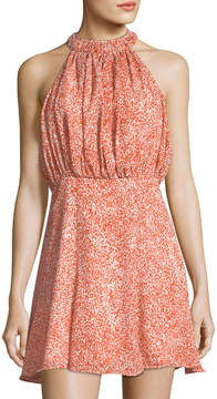 C/Meo Mini Printed Halter Dress