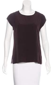Aquascutum London Silk Short Sleeve Top