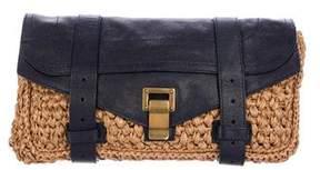 Proenza Schouler PS1 Leather-Trimmed Clutch