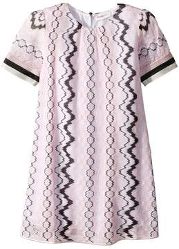 Missoni Kids Rigato Lace Dress Girl's Dress