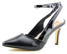 Style&Co. Style & Co Geogette Women Pointed Toe Synthetic Black Slingback Heel.