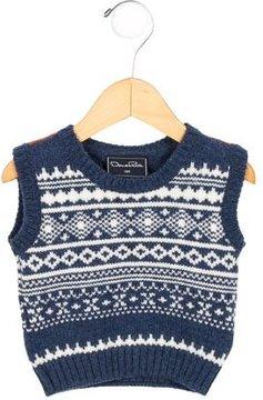 Oscar de la Renta Boys' Patterned Wool Sweater