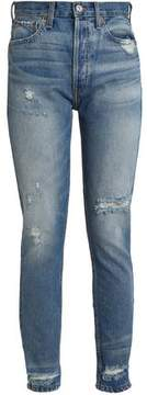Levi's Re/Done By Distressed High-Rise Straight-Leg Jeans