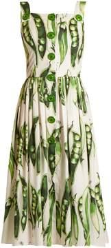 Dolce & Gabbana Broad bean-print square-neck dress