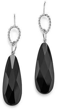 Bloomingdale's Sterling Silver Twisted Circle and Faceted Onyx Drop Earrings - 100% Exclusive