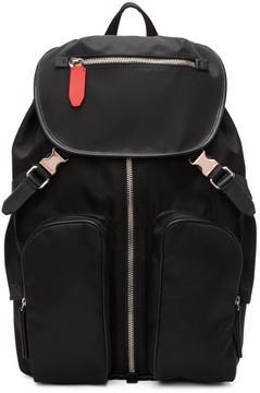 Neil Barrett Black Nylon Flap Backpack