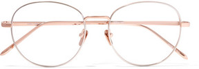 Linda Farrow Round-frame Rose Gold-plated Optical Glasses