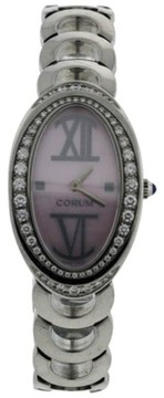 Corum Ovale 137.410.47 Stainless Steel Mother of Pearl and Diamonds Womens Watch
