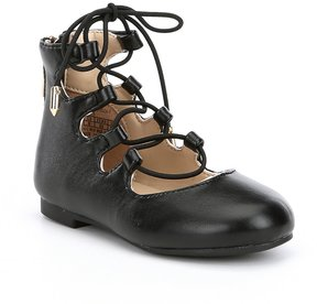 Sam Edelman Girls Felicia Stella-T Ghillie Ballet Flats