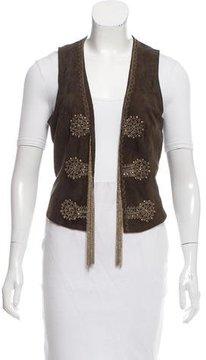 Antik Batik Embellished Suede Vest