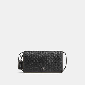COACH Coach Dinky In Signature Glovetanned Leather - BLACK COPPER/BLACK - STYLE