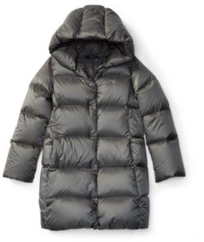 Ralph Lauren Quilted Hooded Down Coat Magnum Grey S