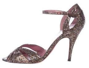 Jean-Michel Cazabat Glitter Cutout Sandals