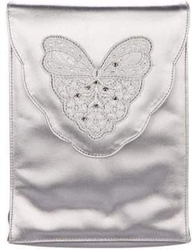 Stuart Weitzman Embellished Leather Evening Bag