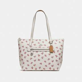 COACH Coach Taylor Tote With Floral Bloom Print - CHALK MULTI/SILVER - STYLE