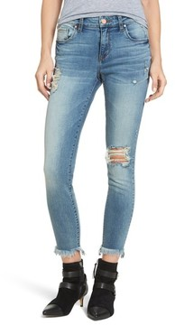 BP Women's Distressed Ankle Skinny Jeans