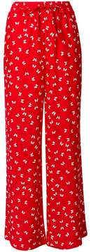 P.A.R.O.S.H. butterfly print high waisted trousers