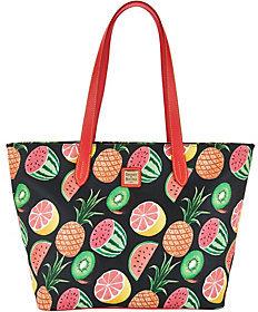 Dooney & Bourke As Is Ambrosia Large Zip Shopper Handbag - ONE COLOR - STYLE