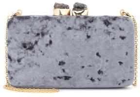 Kayu Margaux velvet box clutch