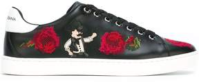 Dolce & Gabbana embroidered flower sneakers