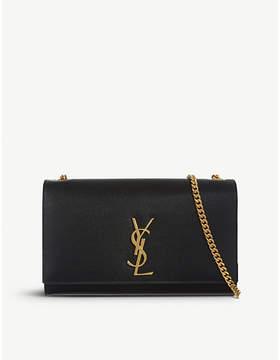Saint Laurent Monogram medium leather shoulder bag - BLACK - STYLE