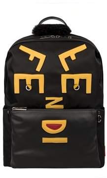 Fendi Men's Black Polyamide Backpack.